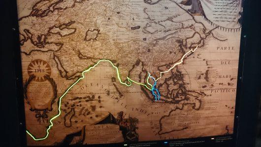 昔の航路。 日本が適当な形でした